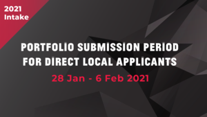 Portfolio Submission Period for Direct local applicants